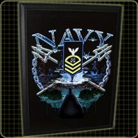 Navy Rank and Rate Plaque