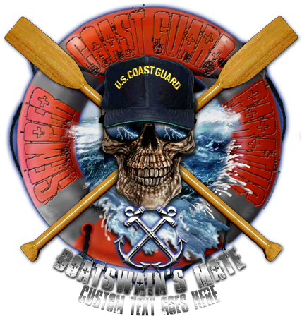 Coast Guard Rate Skull Shirt