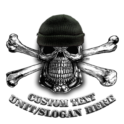 Military Skull and Bones Shirt
