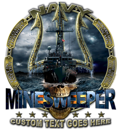 Navy Minesweeper Shirt